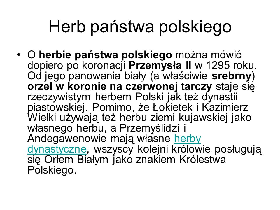 Herb państwa polskiego