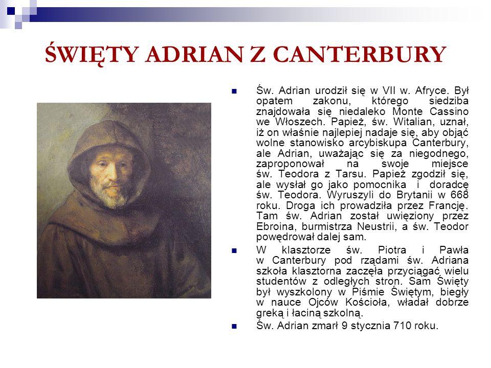 ŚWIĘTY ADRIAN Z CANTERBURY