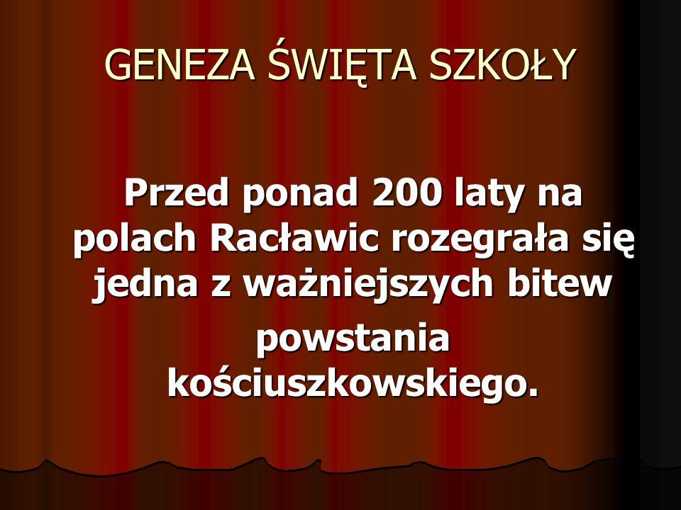 powstania kościuszkowskiego.