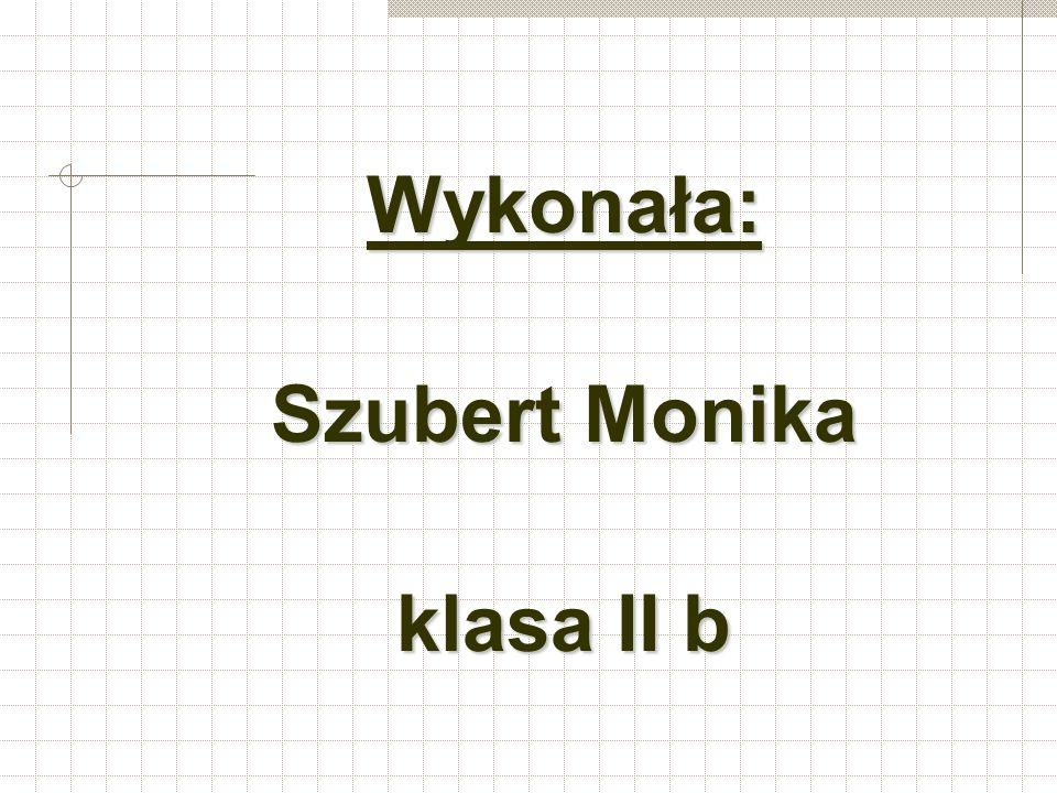 Wykonała: Szubert Monika klasa II b