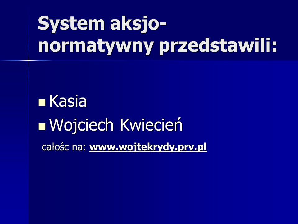 System aksjo-normatywny przedstawili: