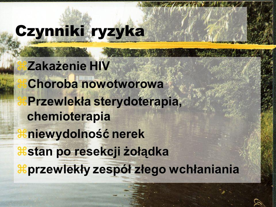 Czynniki ryzyka Zakażenie HIV Choroba nowotworowa