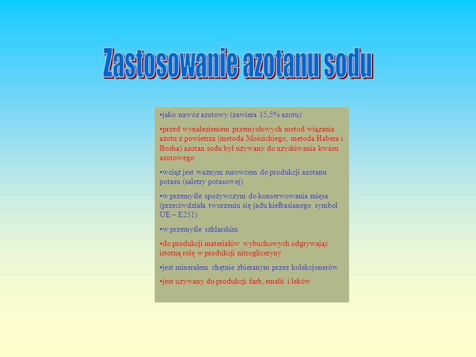 Zastosowanie azotanu sodu