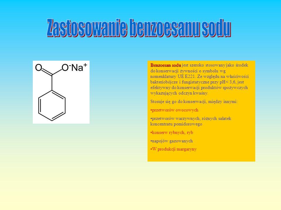 Zastosowanie benzoesanu sodu
