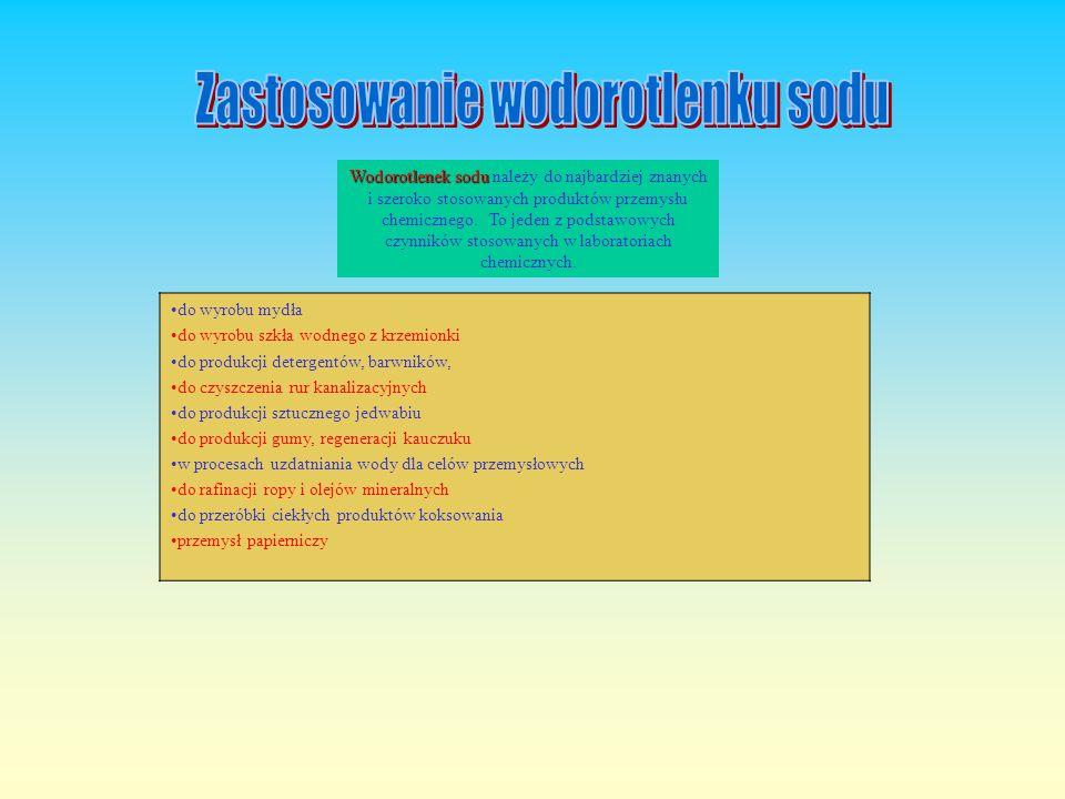 Zastosowanie wodorotlenku sodu