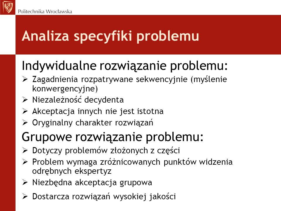 Analiza specyfiki problemu