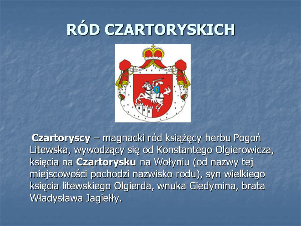 RÓD CZARTORYSKICH