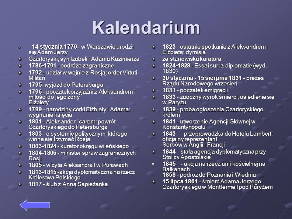 Kalendarium Czartoryski, syn Izabeli i Adama Kazimierza