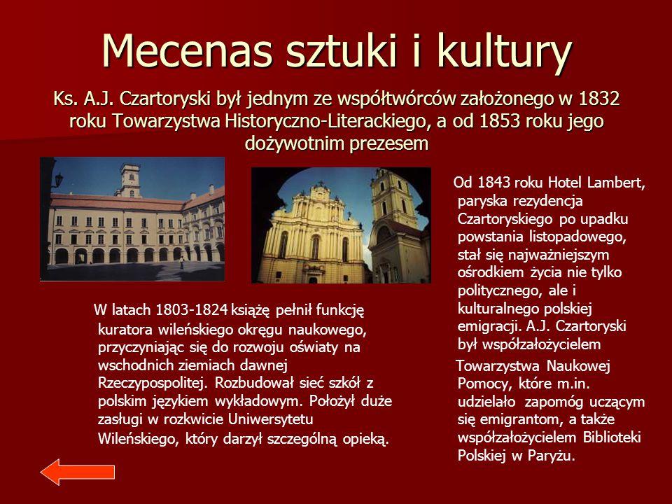 Mecenas sztuki i kultury Ks. A. J