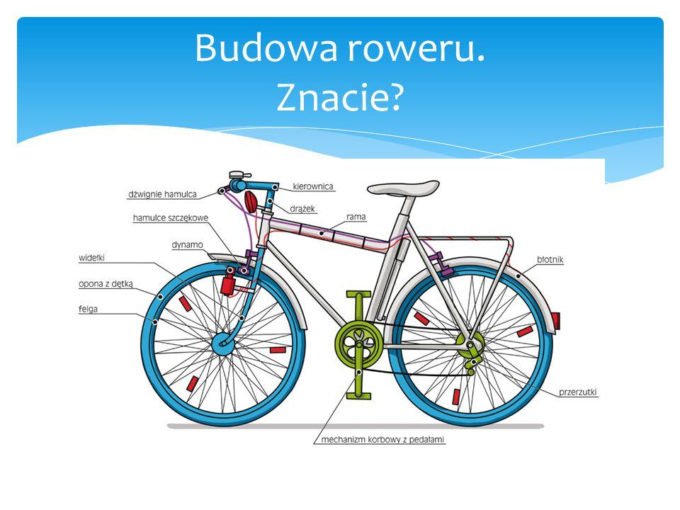 Budowa roweru. Znacie Znacie Nam się wydawało, że znamy!