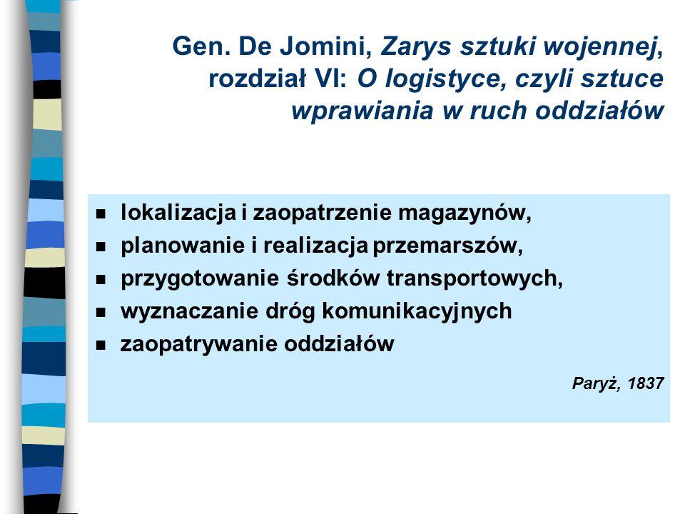 Gen. De Jomini, Zarys sztuki wojennej, rozdział VI: O logistyce, czyli sztuce wprawiania w ruch oddziałów