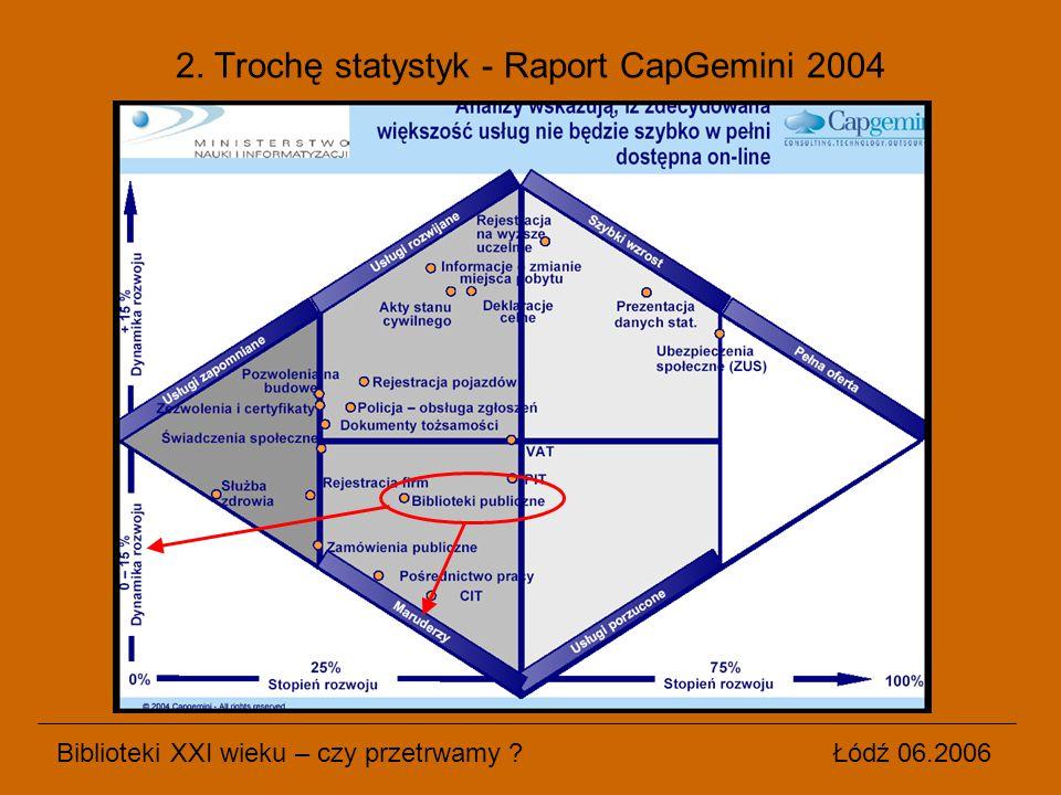 2. Trochę statystyk - Raport CapGemini 2004