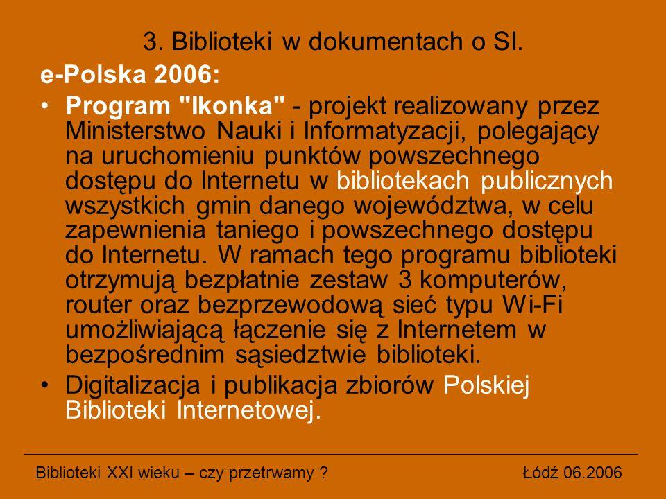 3. Biblioteki w dokumentach o SI.