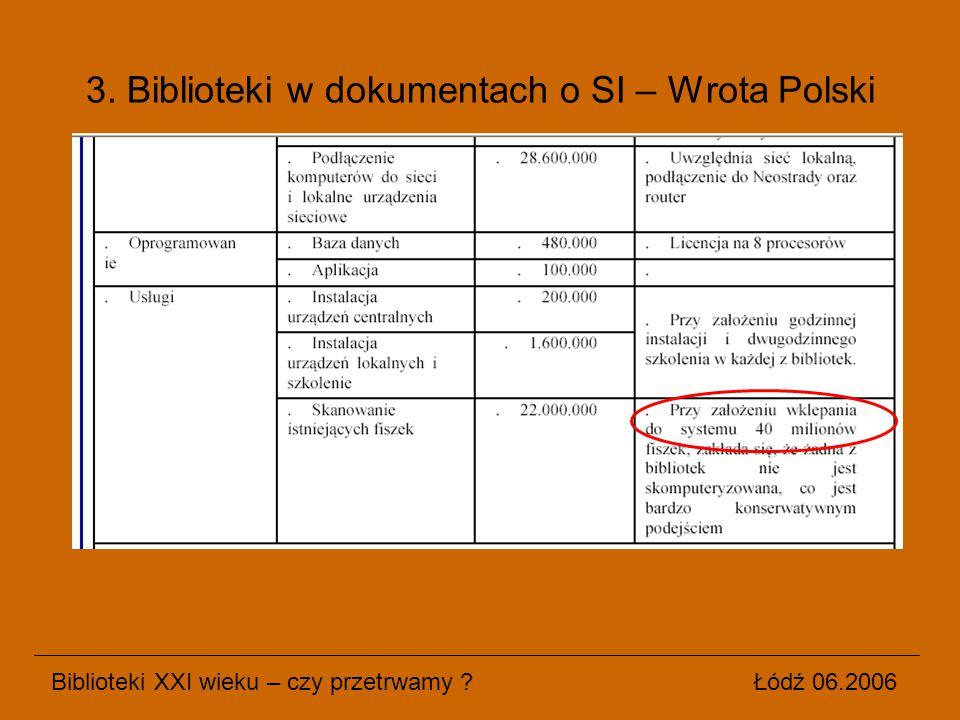3. Biblioteki w dokumentach o SI – Wrota Polski