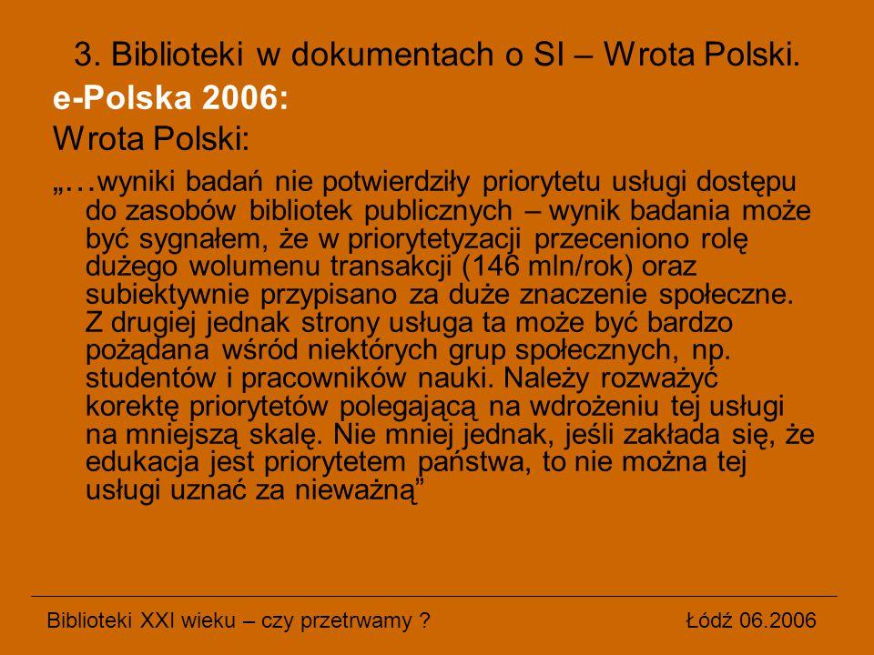3. Biblioteki w dokumentach o SI – Wrota Polski.