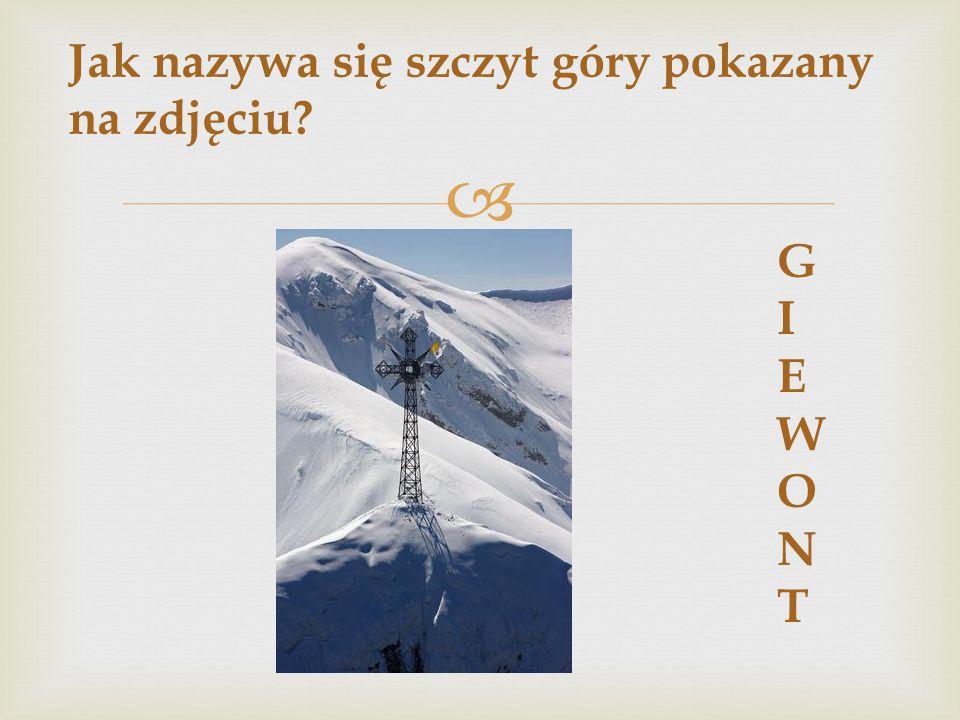 Jak nazywa się szczyt góry pokazany na zdjęciu