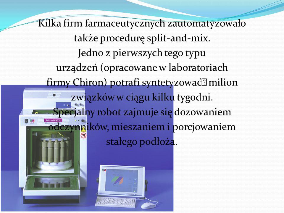 Kilka firm farmaceutycznych zautomatyzowało także procedurę split-and-mix.