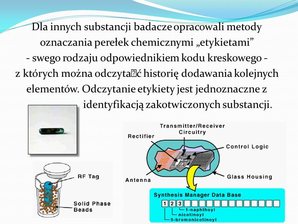 """Dla innych substancji badacze opracowali metody oznaczania perełek chemicznymi """"etykietami - swego rodzaju odpowiednikiem kodu kreskowego - z których można odczytać historię dodawania kolejnych elementów."""
