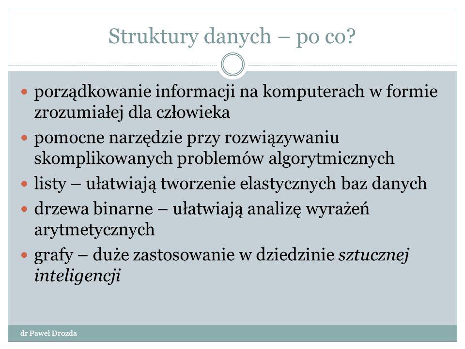 Struktury danych – po co