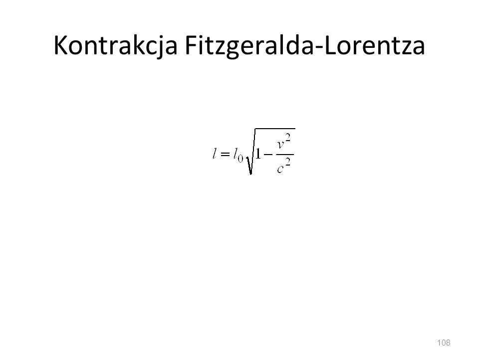 Kontrakcja Fitzgeralda-Lorentza