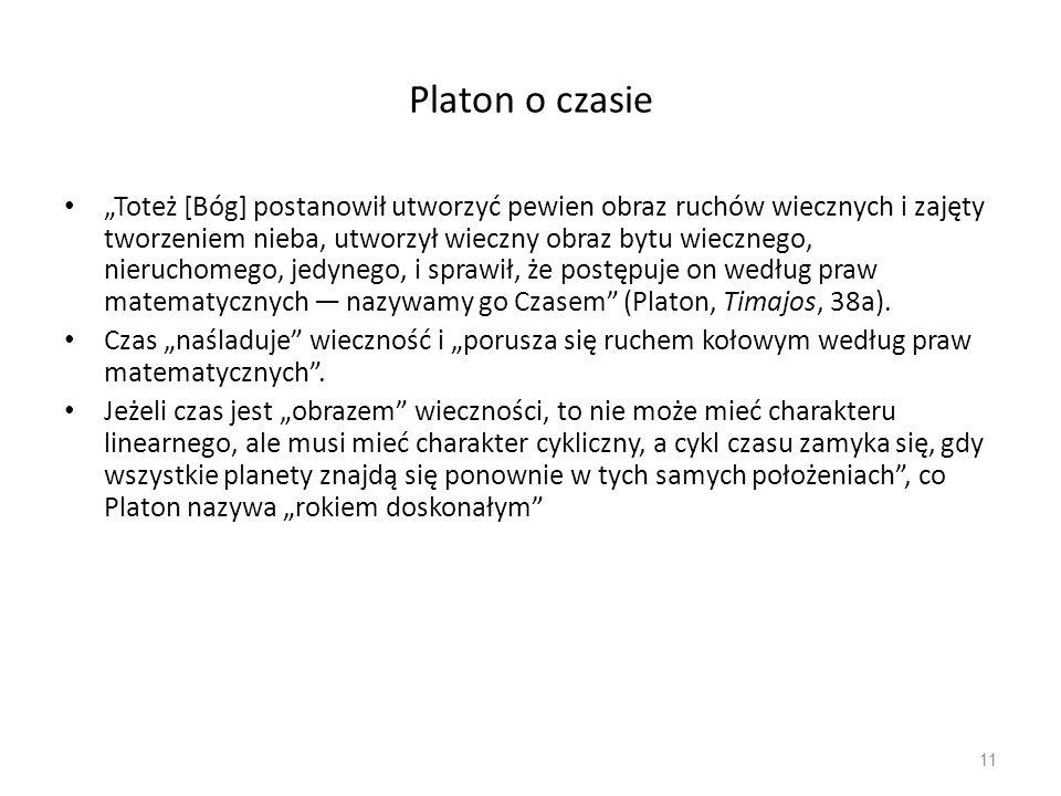 Platon o czasie