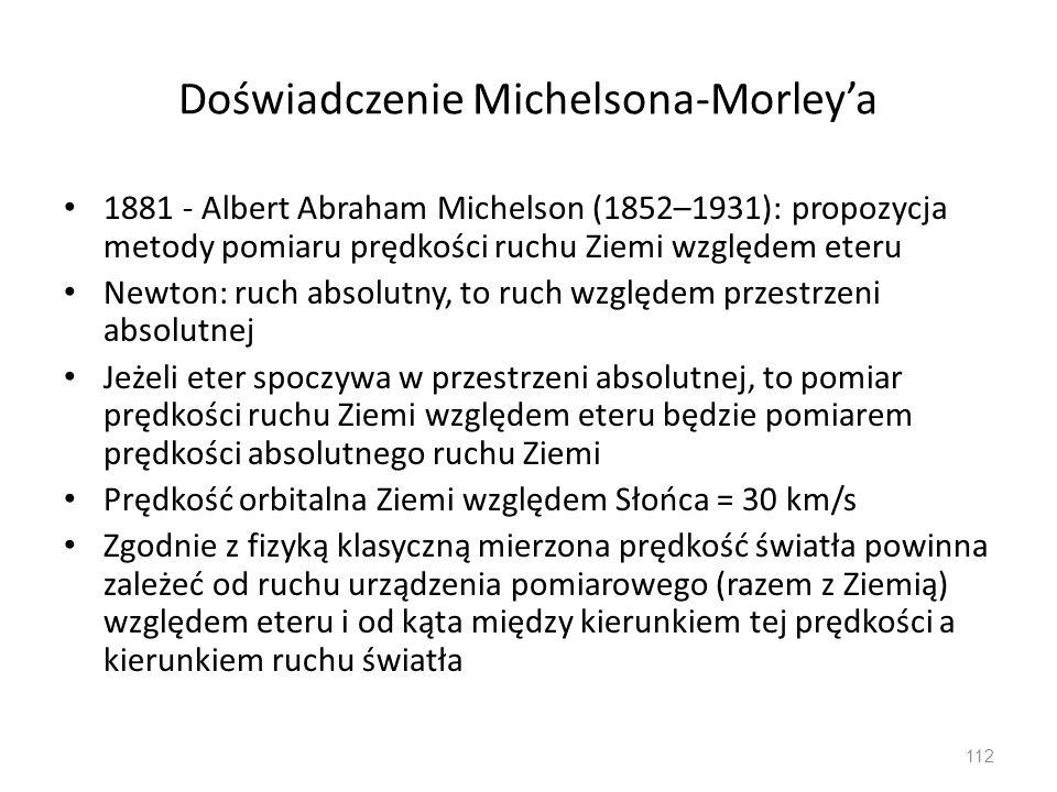 Doświadczenie Michelsona-Morley'a