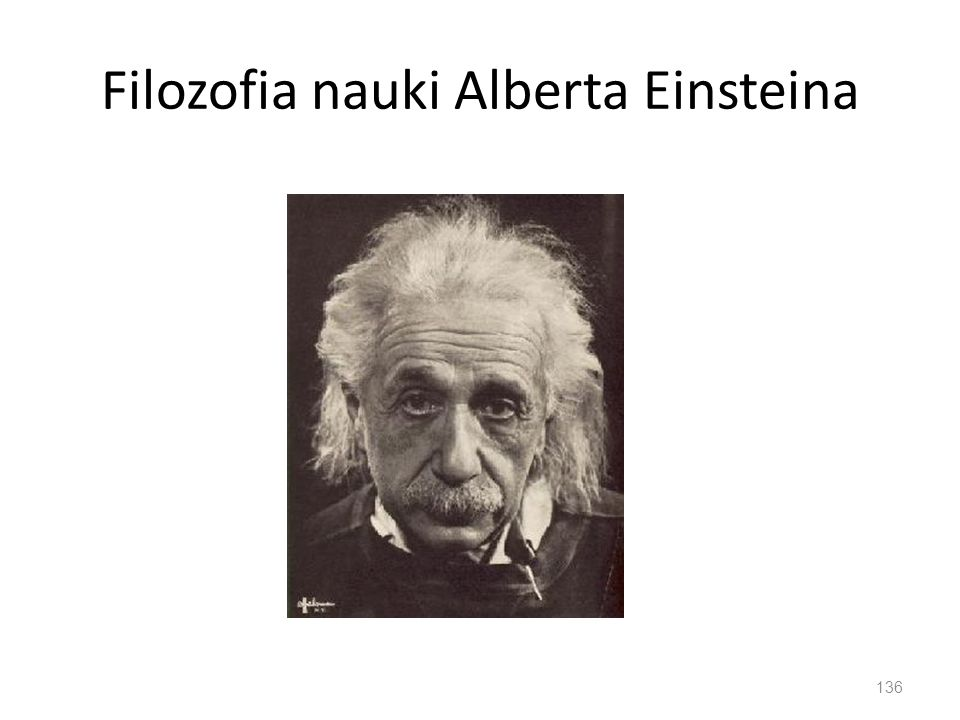 Filozofia nauki Alberta Einsteina