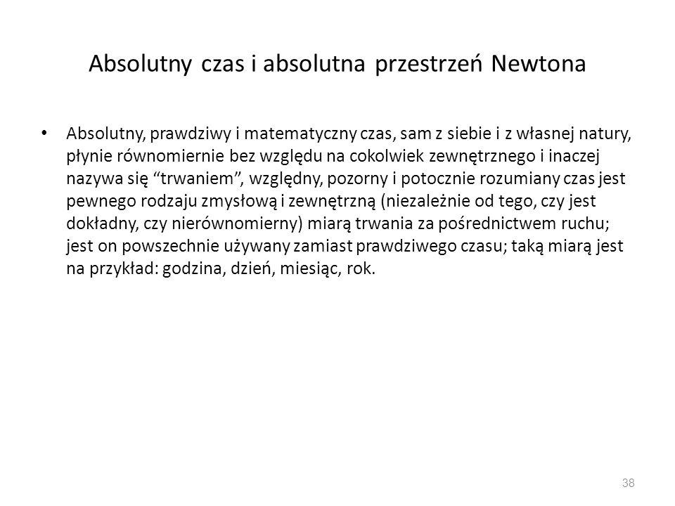 Absolutny czas i absolutna przestrzeń Newtona