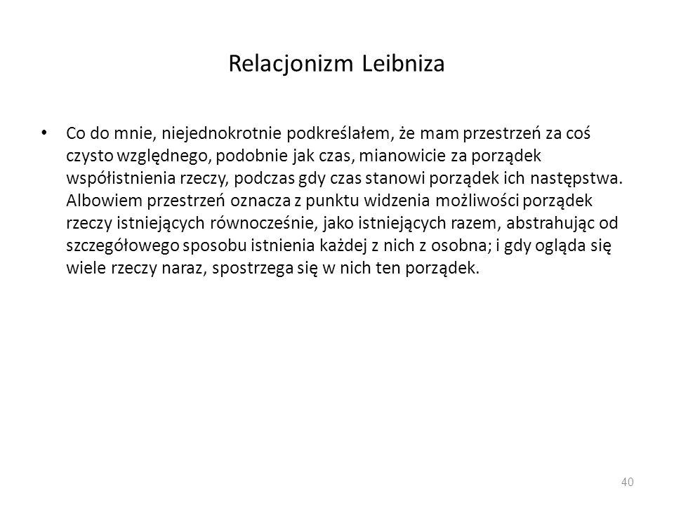 Relacjonizm Leibniza