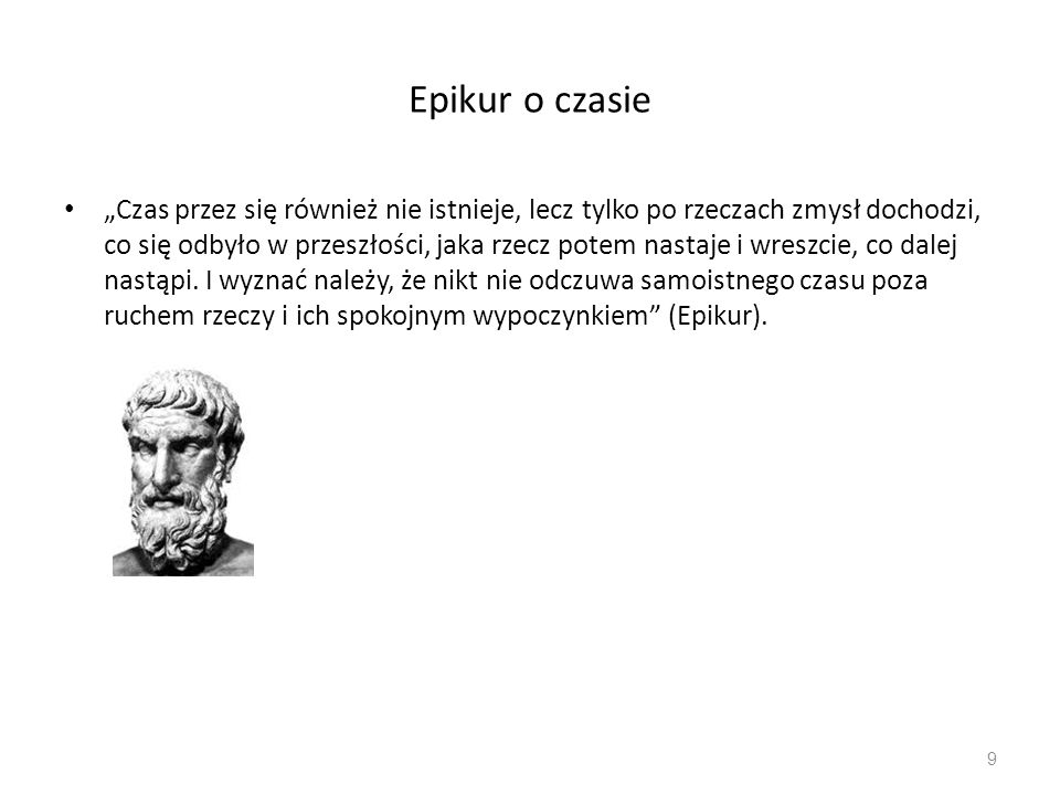 Epikur o czasie