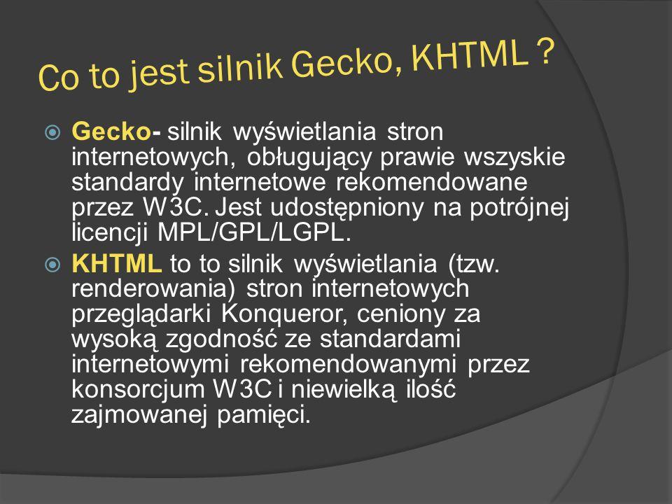 Co to jest silnik Gecko, KHTML