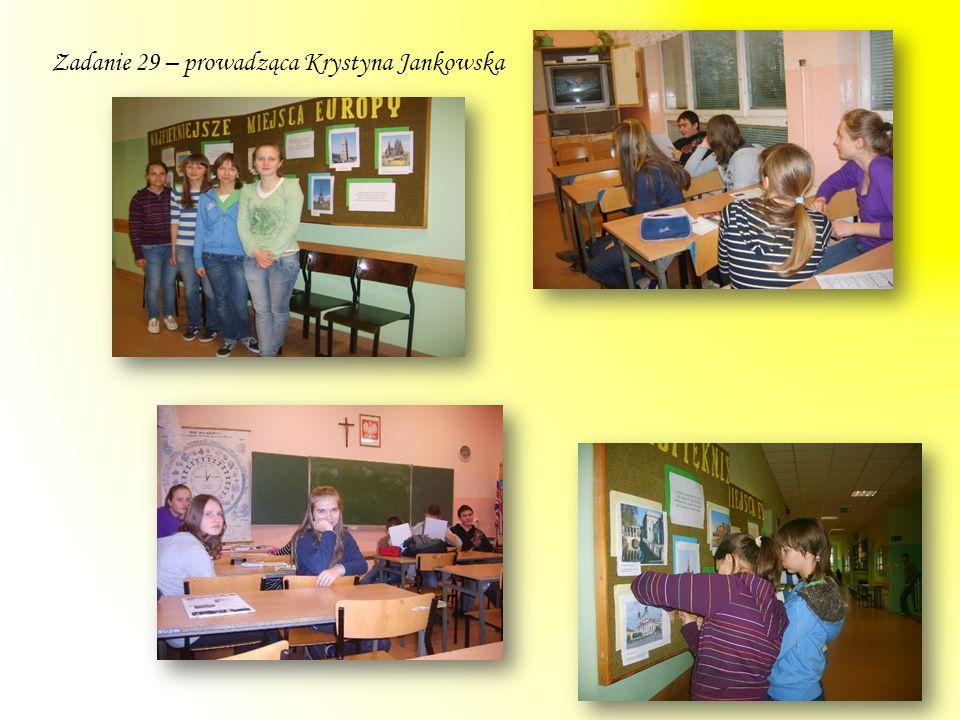 Zadanie 29 – prowadząca Krystyna Jankowska