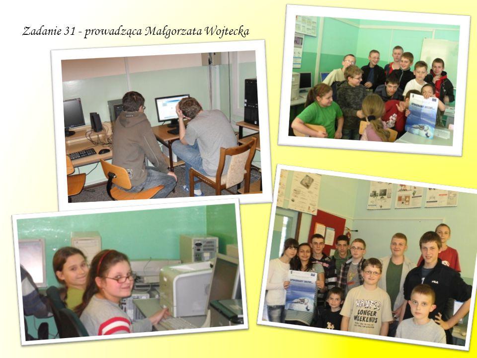 Zadanie 31 - prowadząca Małgorzata Wojtecka