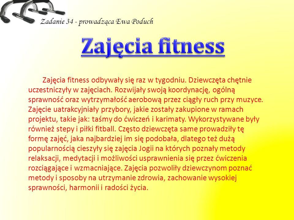 Zajęcia fitness Zadanie 34 - prowadząca Ewa Poduch