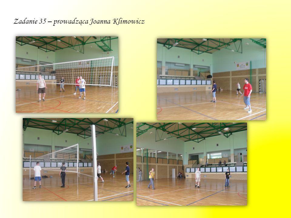 Zadanie 35 – prowadząca Joanna Klimowicz
