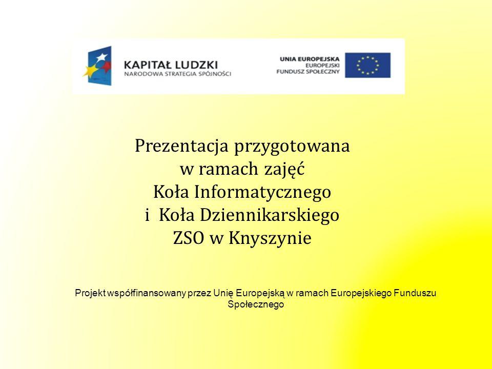 Prezentacja przygotowana w ramach zajęć Koła Informatycznego