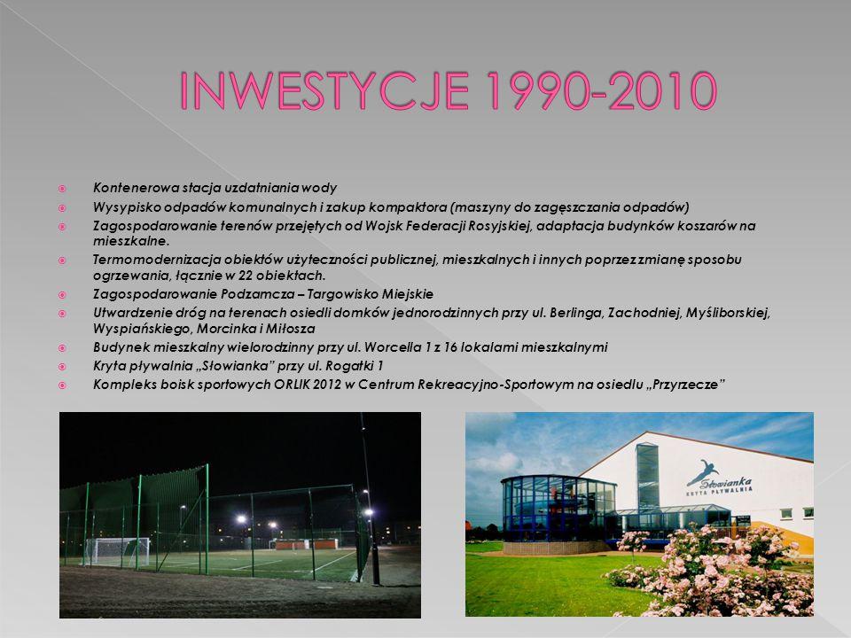 INWESTYCJE 1990-2010 Kontenerowa stacja uzdatniania wody