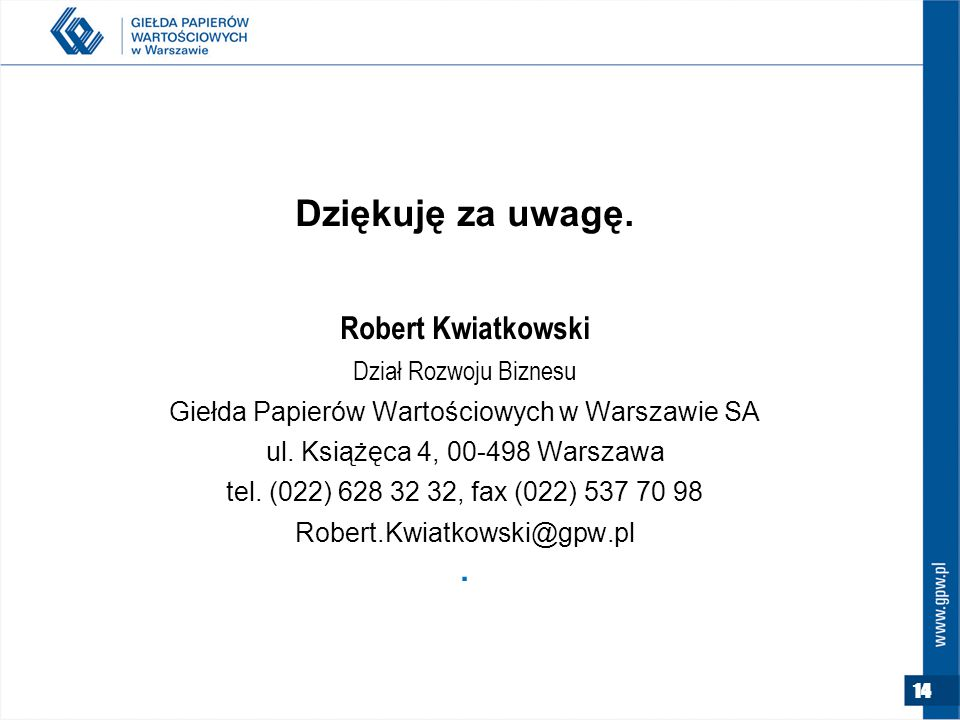 Giełda Papierów Wartościowych w Warszawie SA