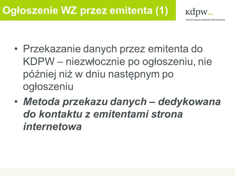 Ogłoszenie WZ przez emitenta (1)