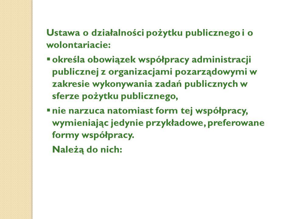 Ustawa o działalności pożytku publicznego i o wolontariacie: