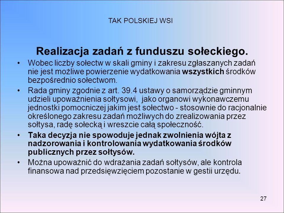 Realizacja zadań z funduszu sołeckiego.