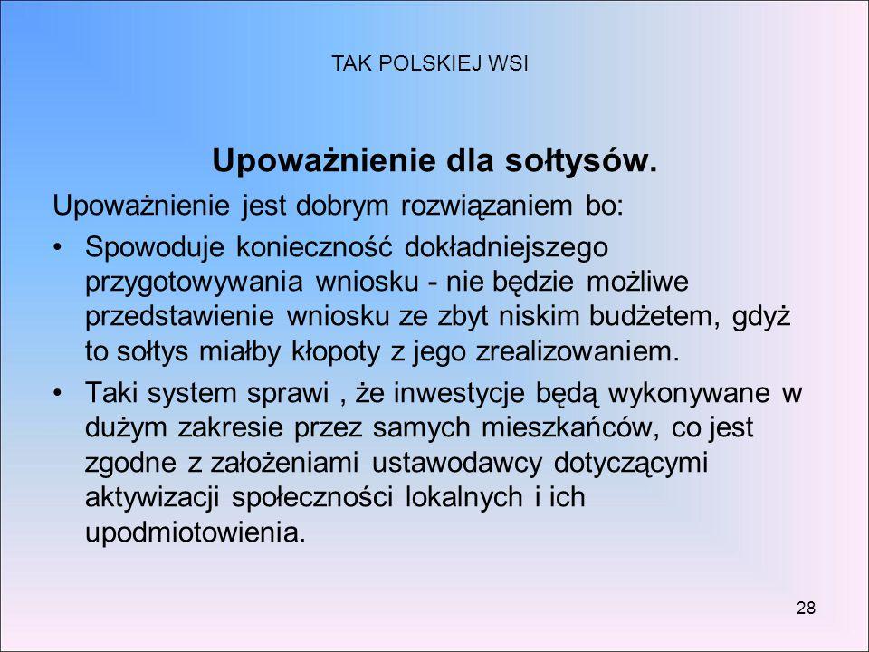 Upoważnienie dla sołtysów.