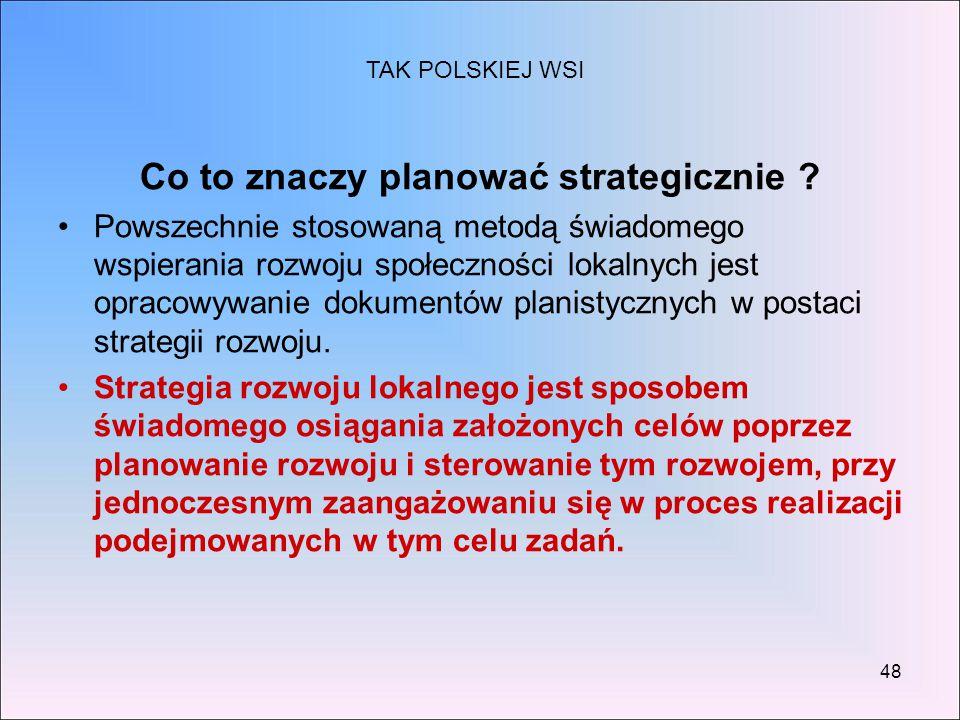 Co to znaczy planować strategicznie