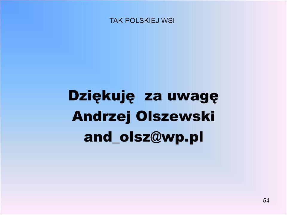 Dziękuję za uwagę Andrzej Olszewski and_olsz@wp.pl