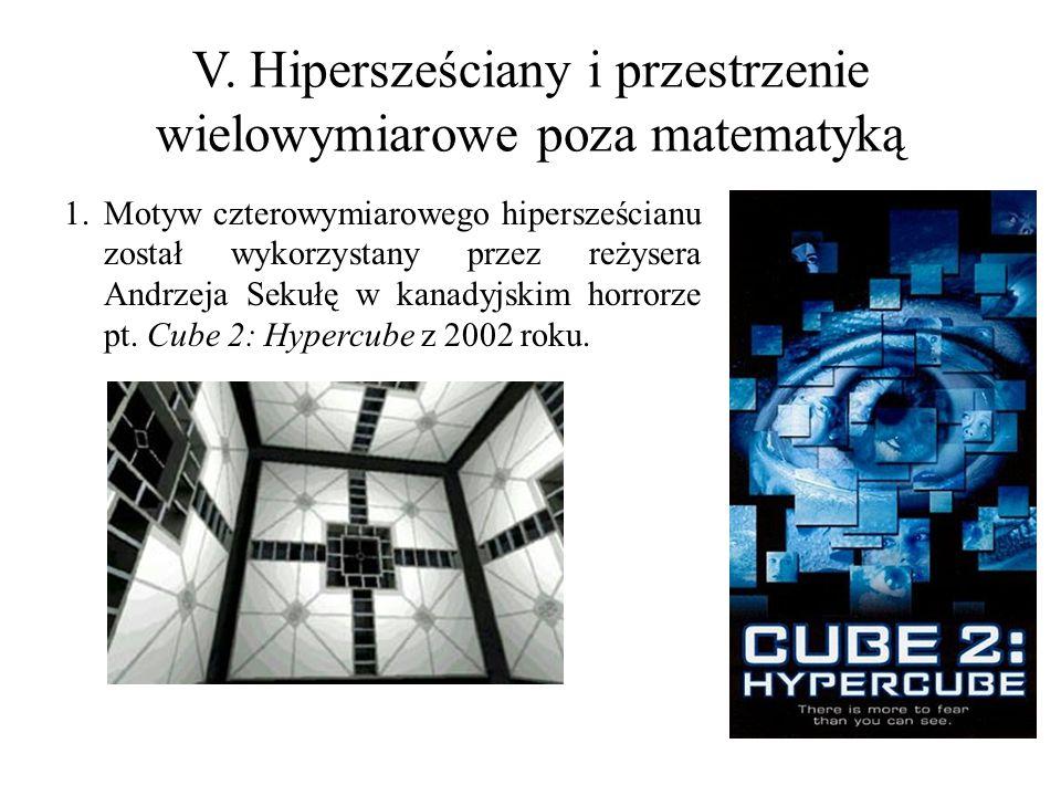 V. Hipersześciany i przestrzenie wielowymiarowe poza matematyką