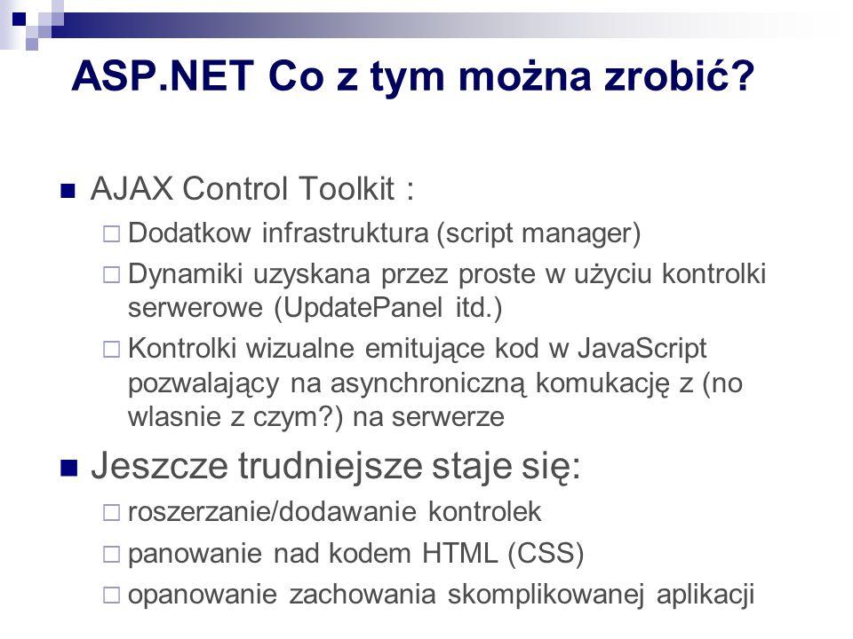 ASP.NET Co z tym można zrobić