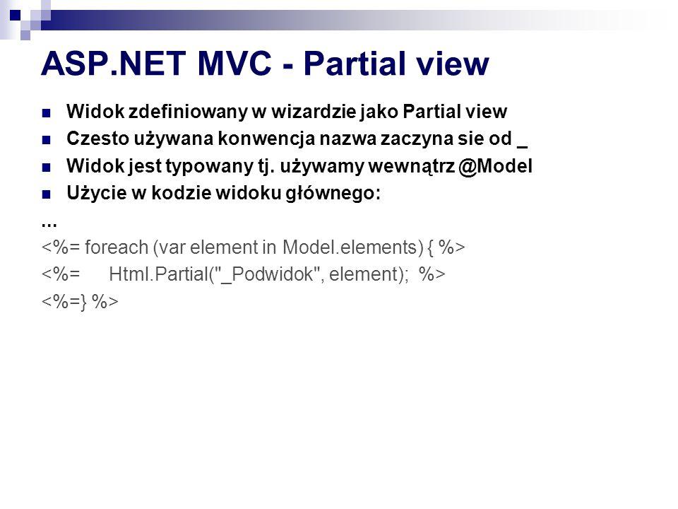 ASP.NET MVC - Partial view