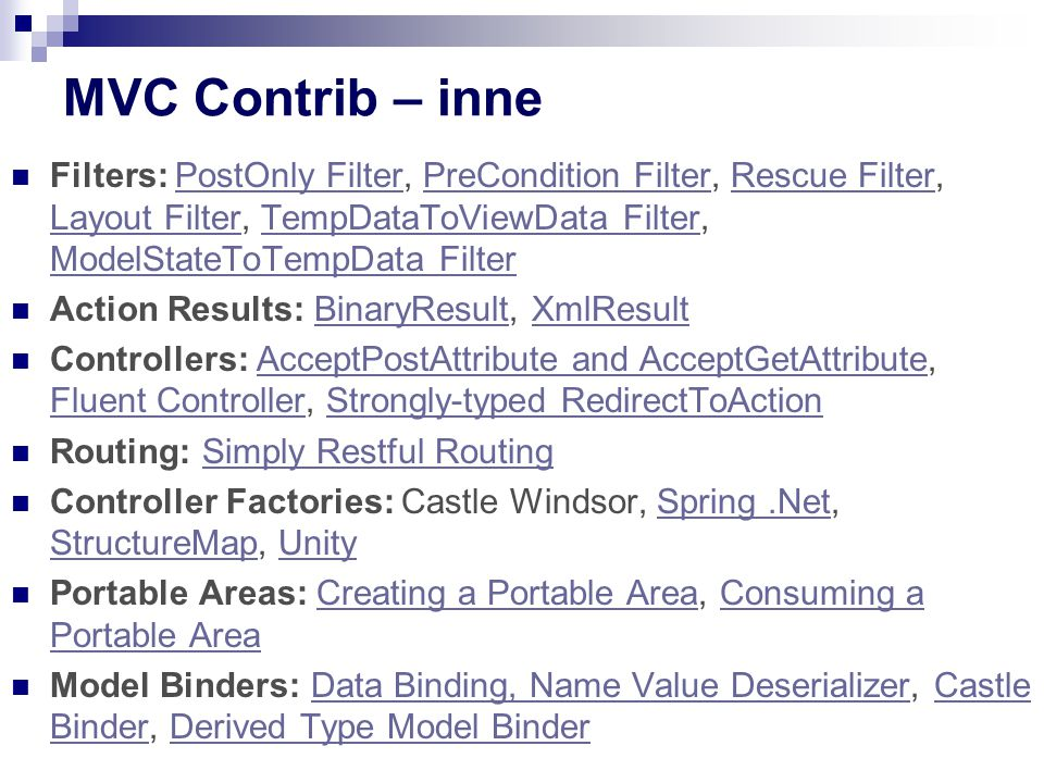 MVC Contrib – inne