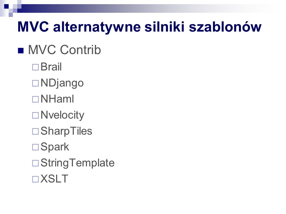 MVC alternatywne silniki szablonów