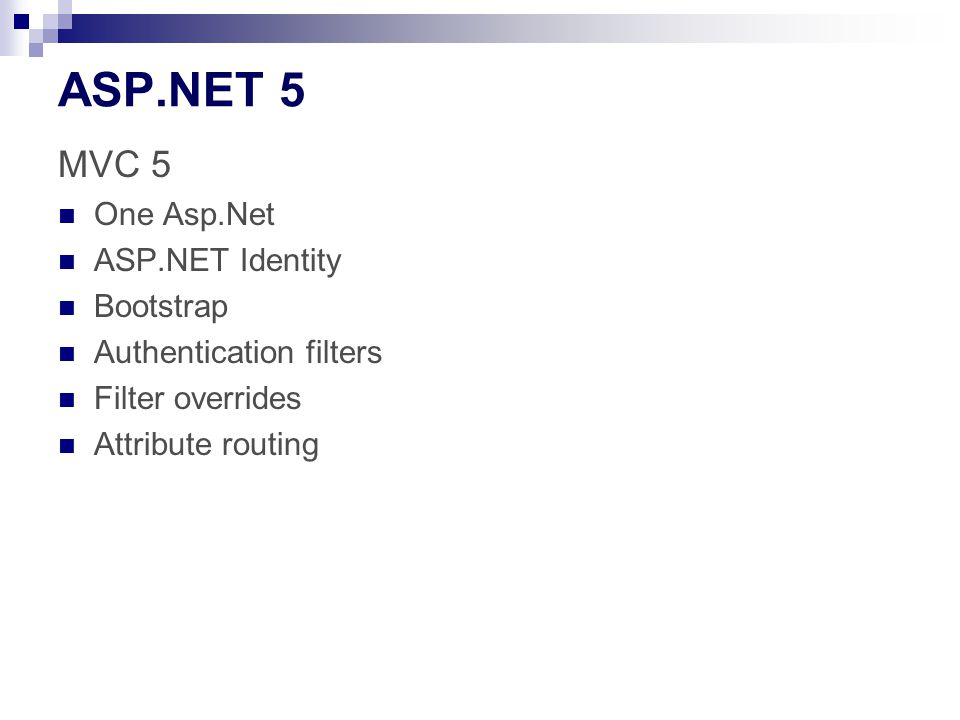 ASP.NET 5 MVC 5 One Asp.Net ASP.NET Identity Bootstrap